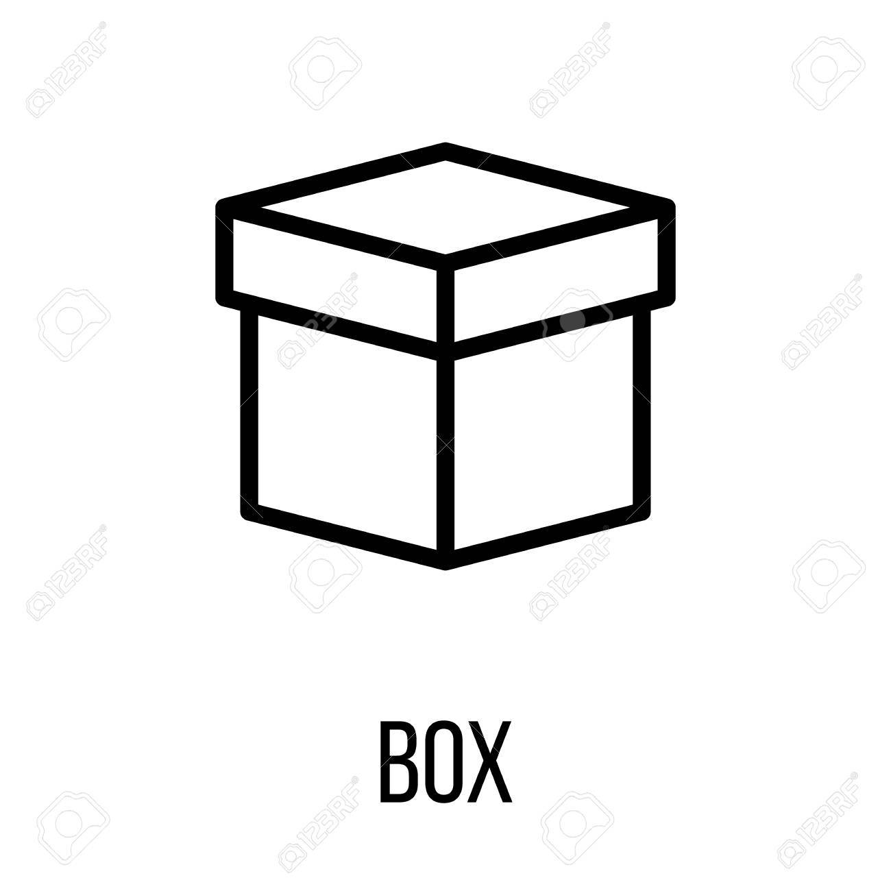 Box icon in modern line style. High quality black outline pictogram...