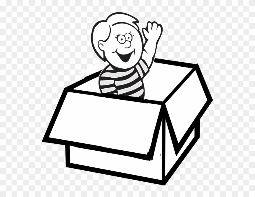 Paper Box Clipart Black And White.