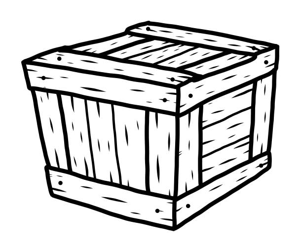 Best Black And White Storage Boxes Illustrations, Royalty.