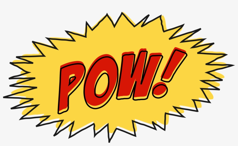 Pow Comic Book Sound Effect No Background Icons Png.