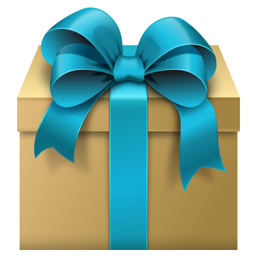 Gift Box with Blue Bow Free Clipart.
