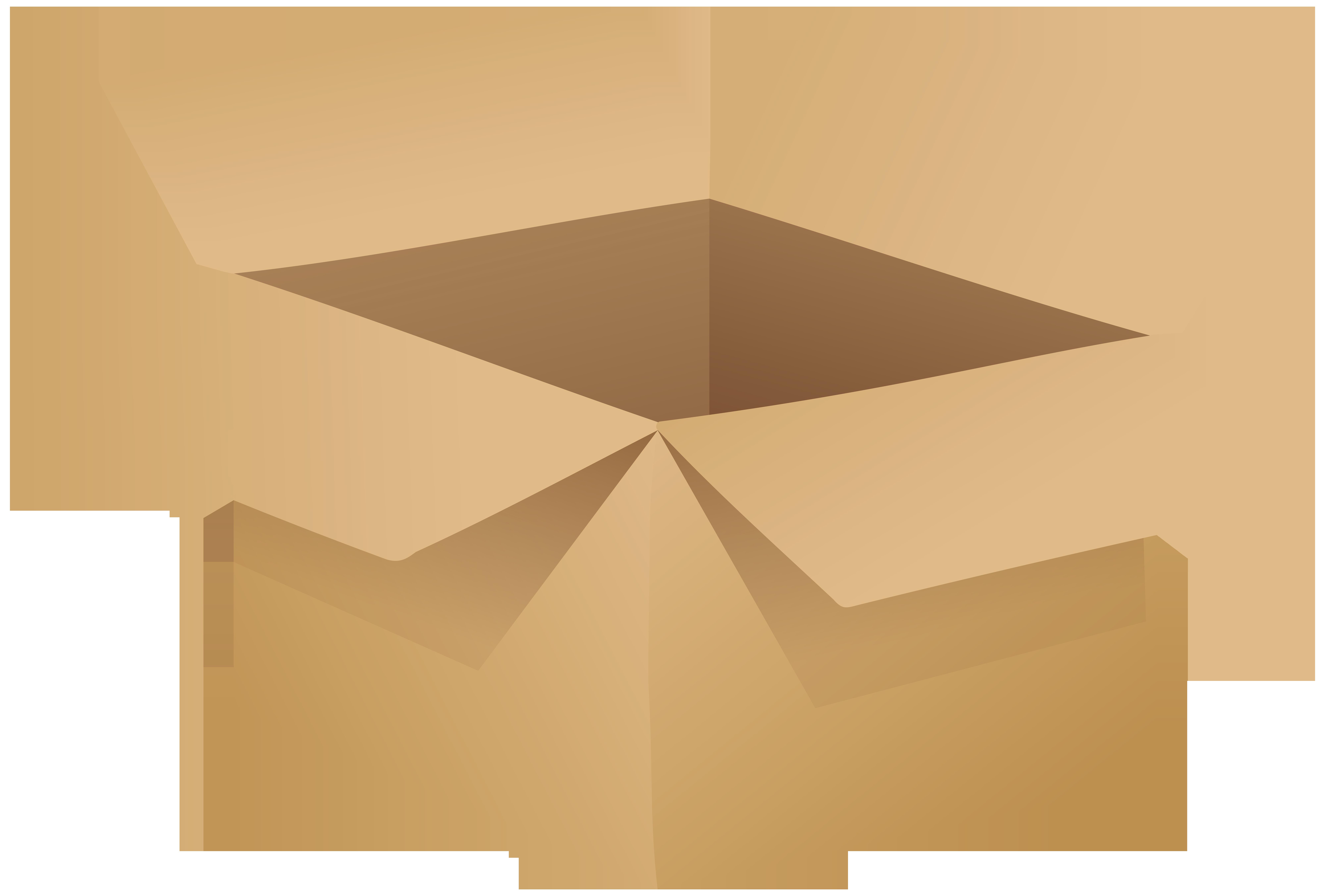 Open Cardboard Box PNG Clip Art.