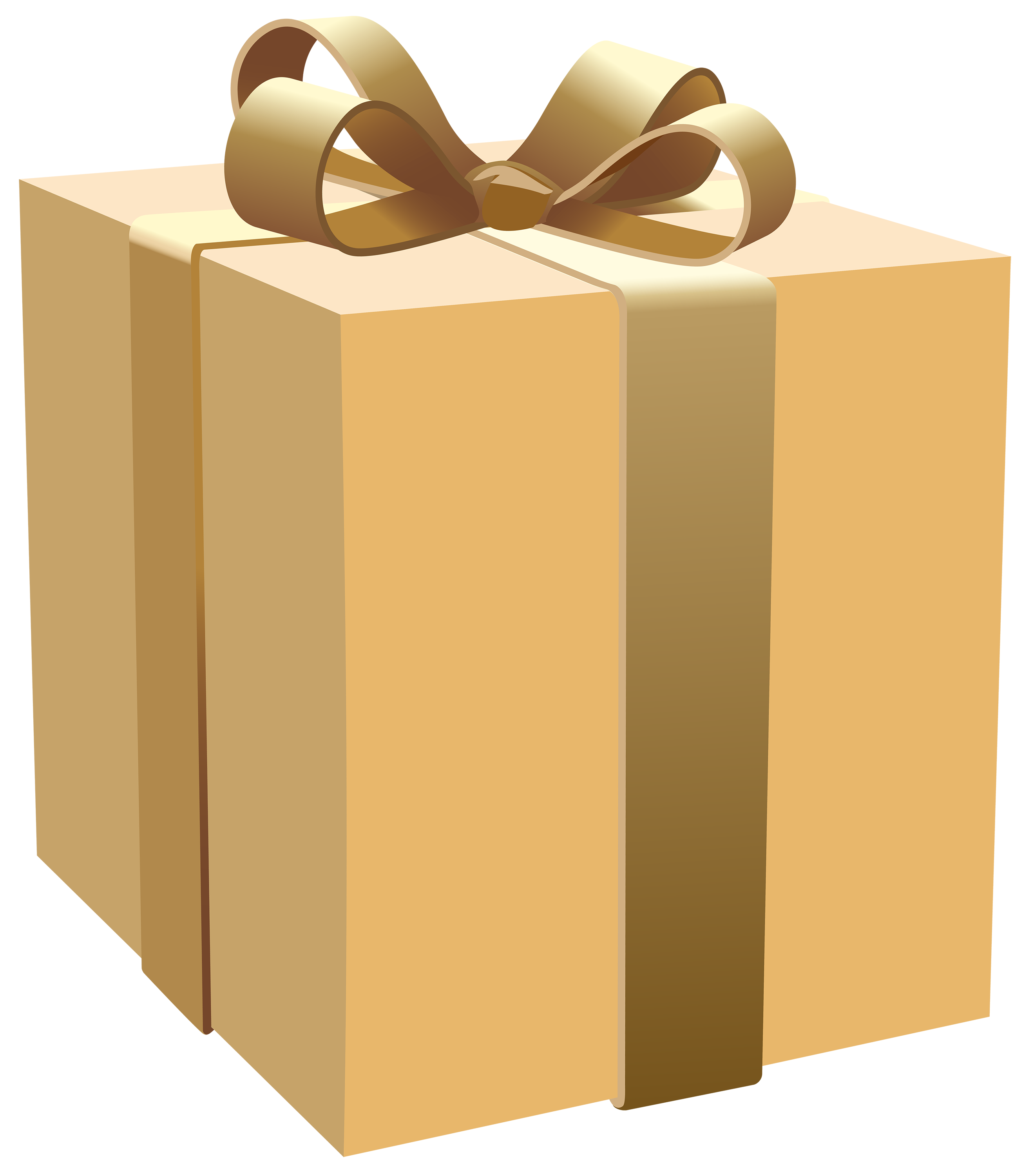 Cream Gift Box PNG Clipart.