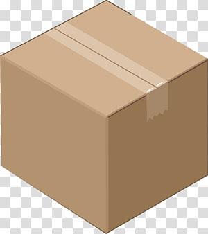 Brown box illustration, Cardboard box Icon, Cardboard box.