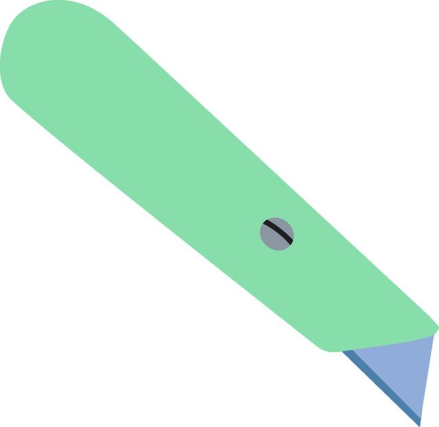 Free vector graphic: Box Cutter, Cardboard Cutter.