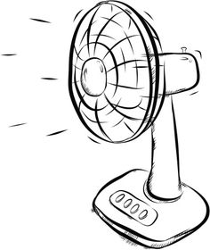 Black and white fan clipart.