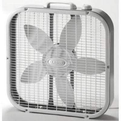 Lasko 20 inch Box Fan, White.