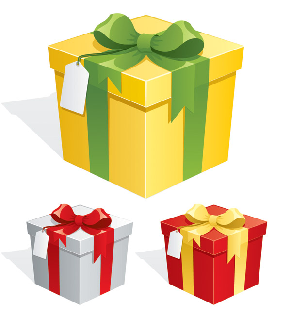 Beautiful gift box vector Free Vector / 4Vector.