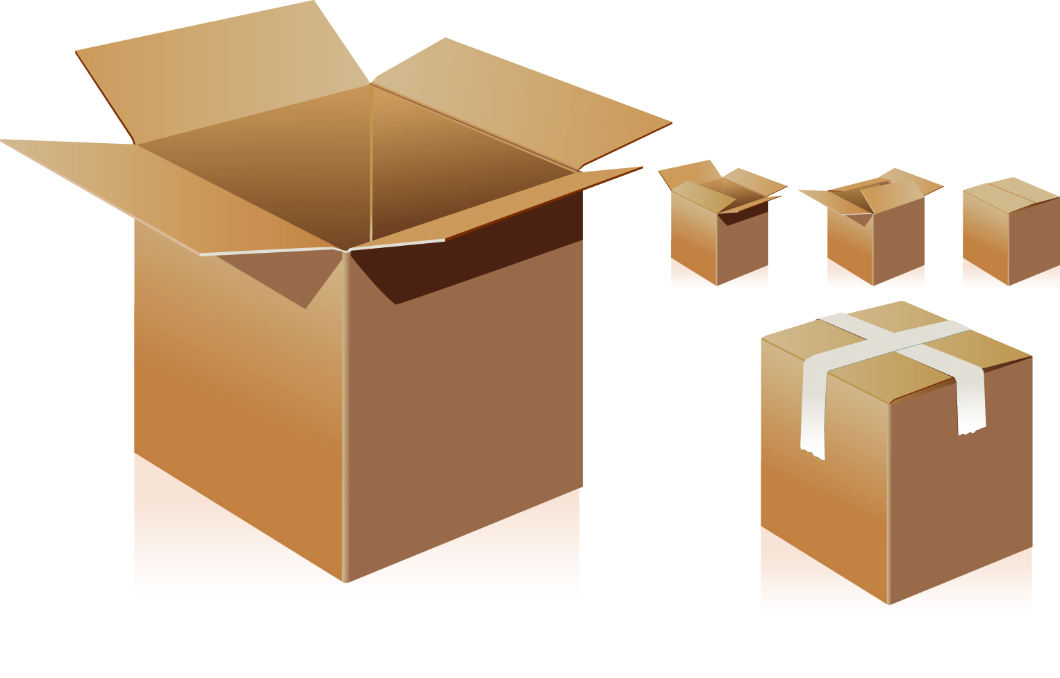 Boxes vector image.