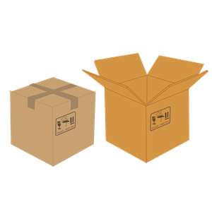 Open and closed boxes clipart, cliparts of Open and closed boxes.