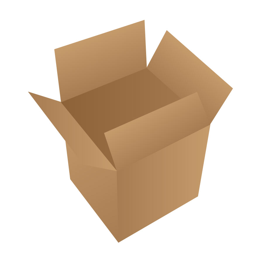 Open Cardboard Box Free Vector.