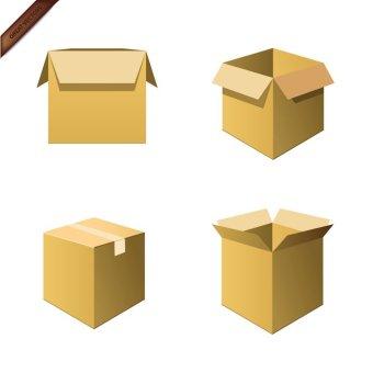 Cardboard Box Free Vector.