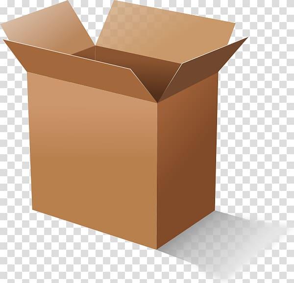 Brown cardboard box illustration, Cardboard box , Open box.