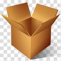 Drop Box Icon, drop_boxx, brown cardboard box illustration.