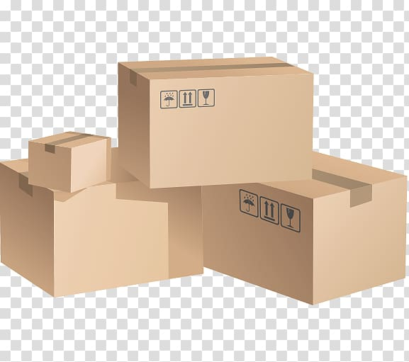 Mover Paper Cardboard box Packaging and labeling, box transparent.