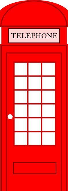 London Telephone Box Clipart.