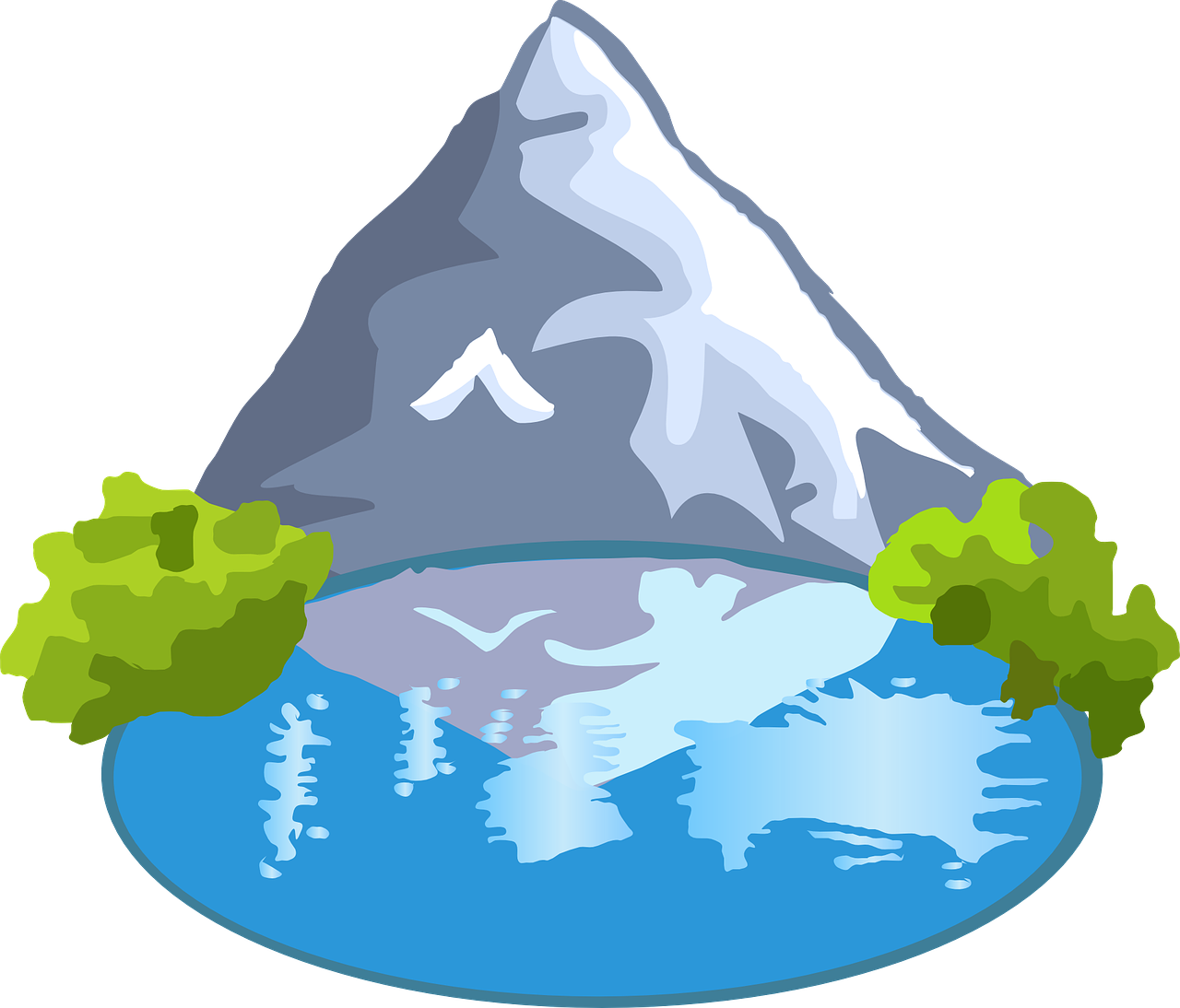 Clip art lake clipart image.