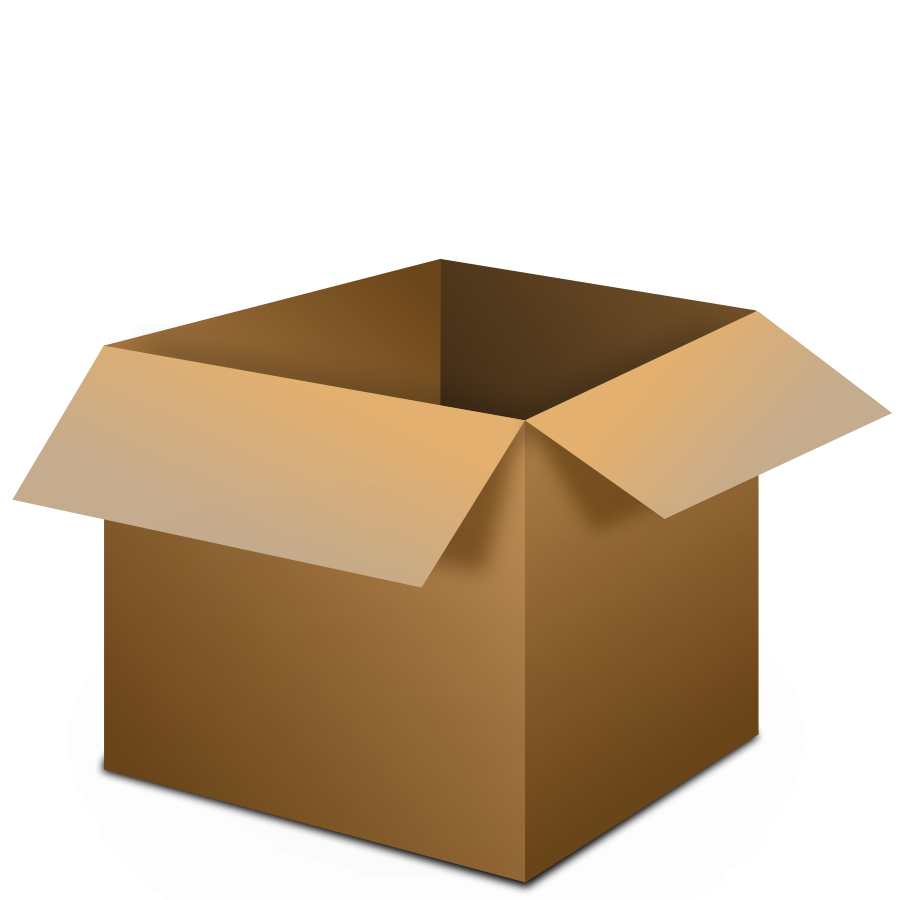 Transparent box clipart.