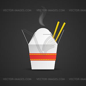 Noodle paper box mockup.