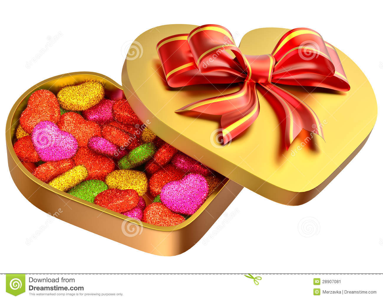 Candy In A Box As A Gift For Valentine's Day Stock Image.