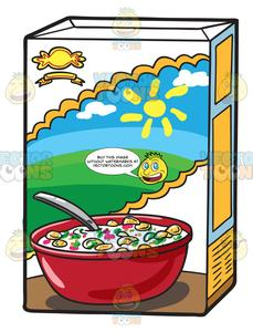 A Box Of Cereal.