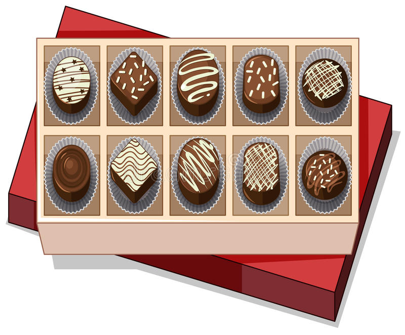 Box Chocolate Stock Illustrations.