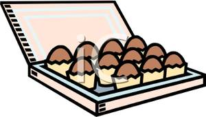 Free Clipart Image: A Box of Chocolates.