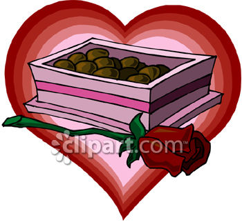Box Of Chocolates With A Rose.