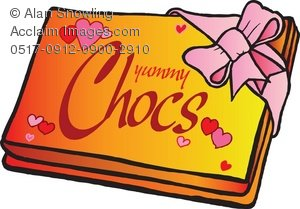 Clipart Illustration of Box of Chocolates.