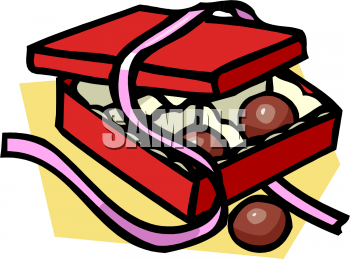 Box of Chocolates Clip Art Image.