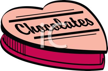 Picture of a Heart Shaped Box of Chocolates In a Vector Clip Art.