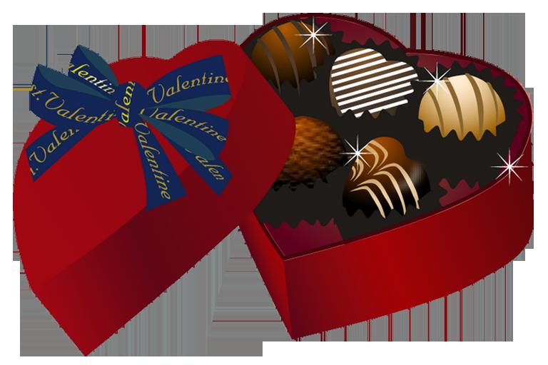 Heart box of chocolates clipart.