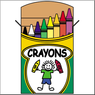 Crayon Box Clipart.