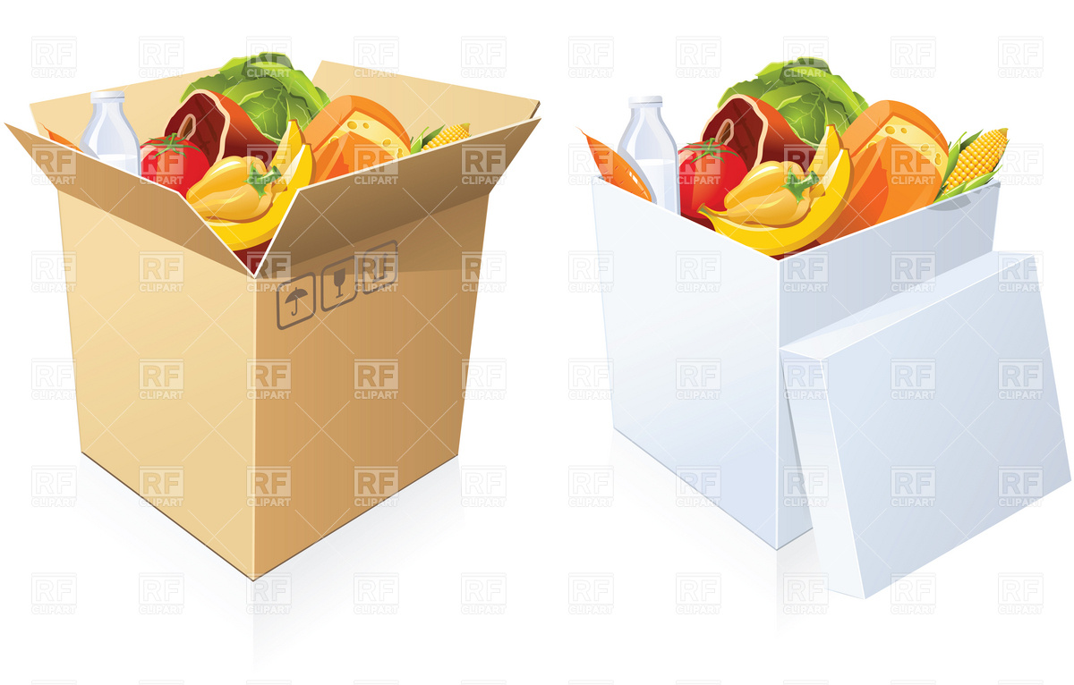 Box Of Food Clipart.
