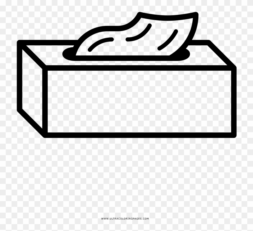 Tissue Box Coloring Page Clipart (#3904223).