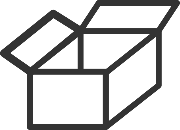 Small box outline clipart.