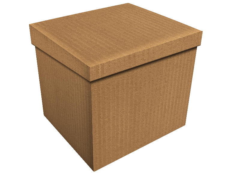 Cardboard Carton Box PNG (Isolated.