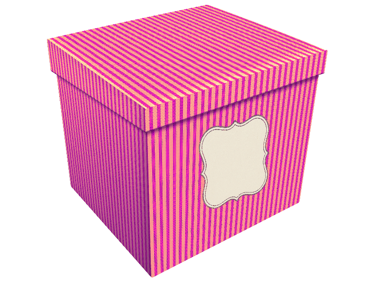 Vintage Gift Box PNG Image (Isolated.