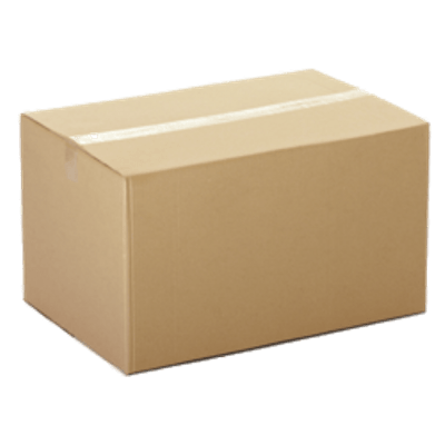 Closed Cardboard Box transparent PNG.