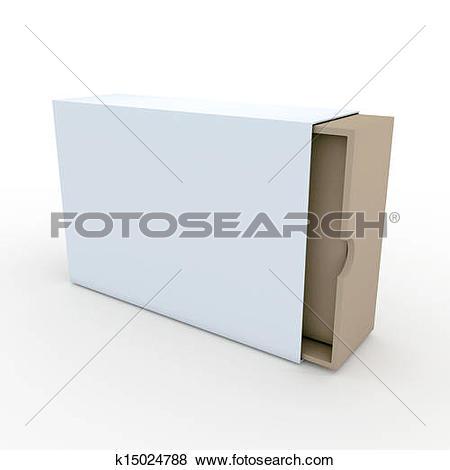 Stock Illustration of 3d white slide box, jacket cover k15024788.