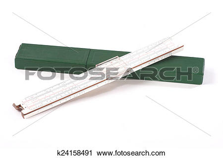 Stock Photography of Slide rule and box k24158491.