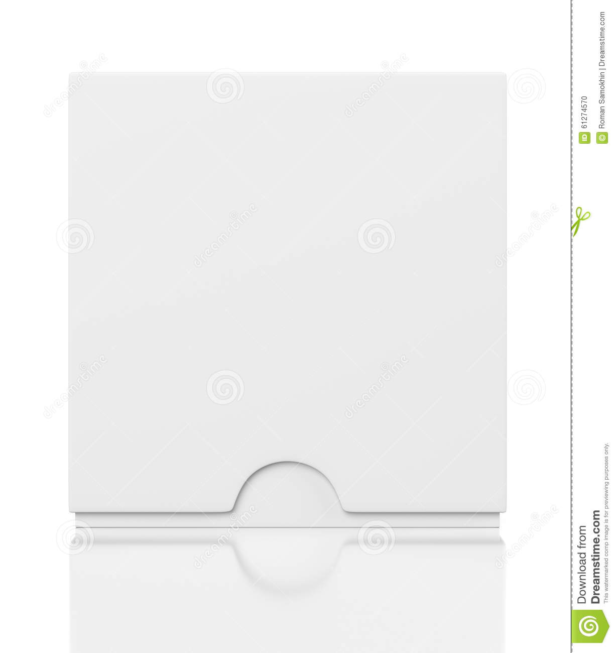 Closed Box With Slide Cover Isolated On White Stock Illustration.