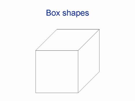 3D box shapes.