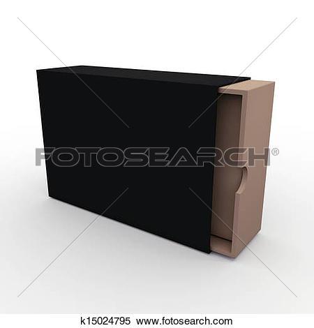 Stock Illustration of 3d black slide box, jacket cover k15024795.
