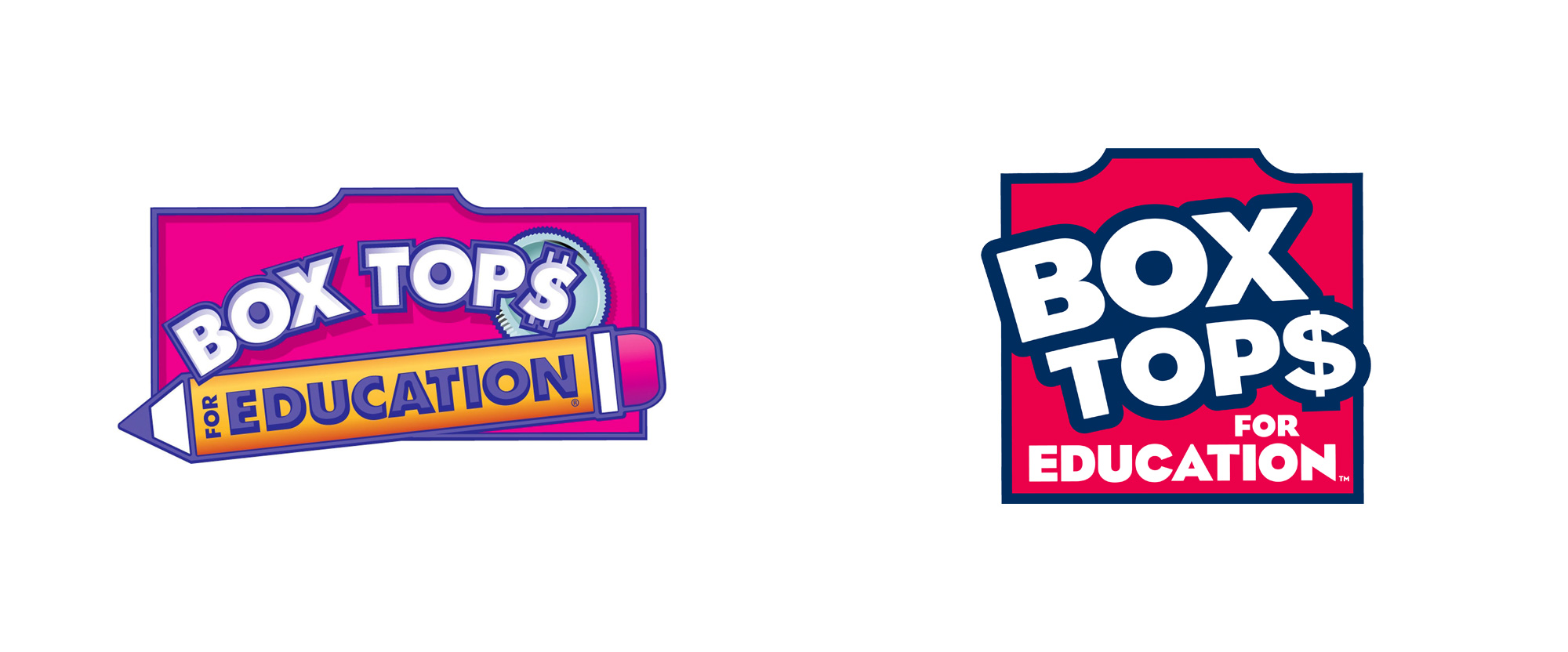 Brand New: New Logo for Box Tops for Education.