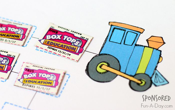 Box Tops for Education Collection Sheets.