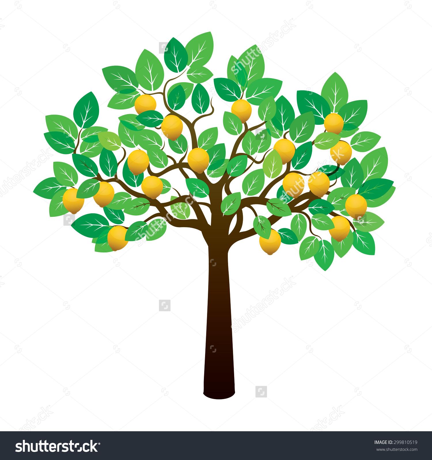 Clipart lemon tree.