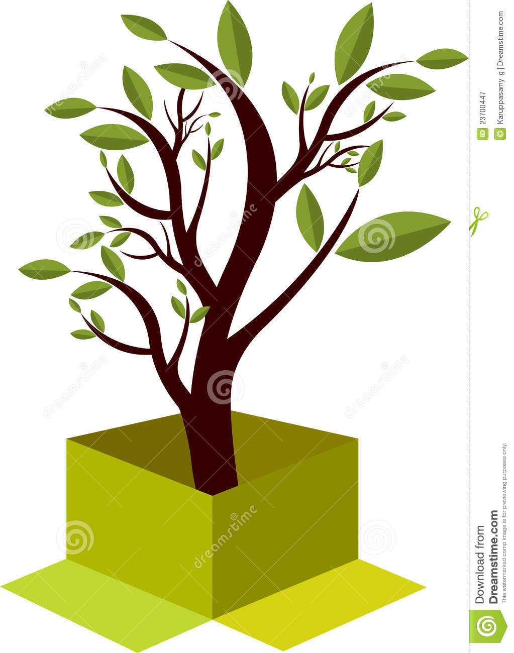 Box Tree Logo Royalty Free Stock Photography.