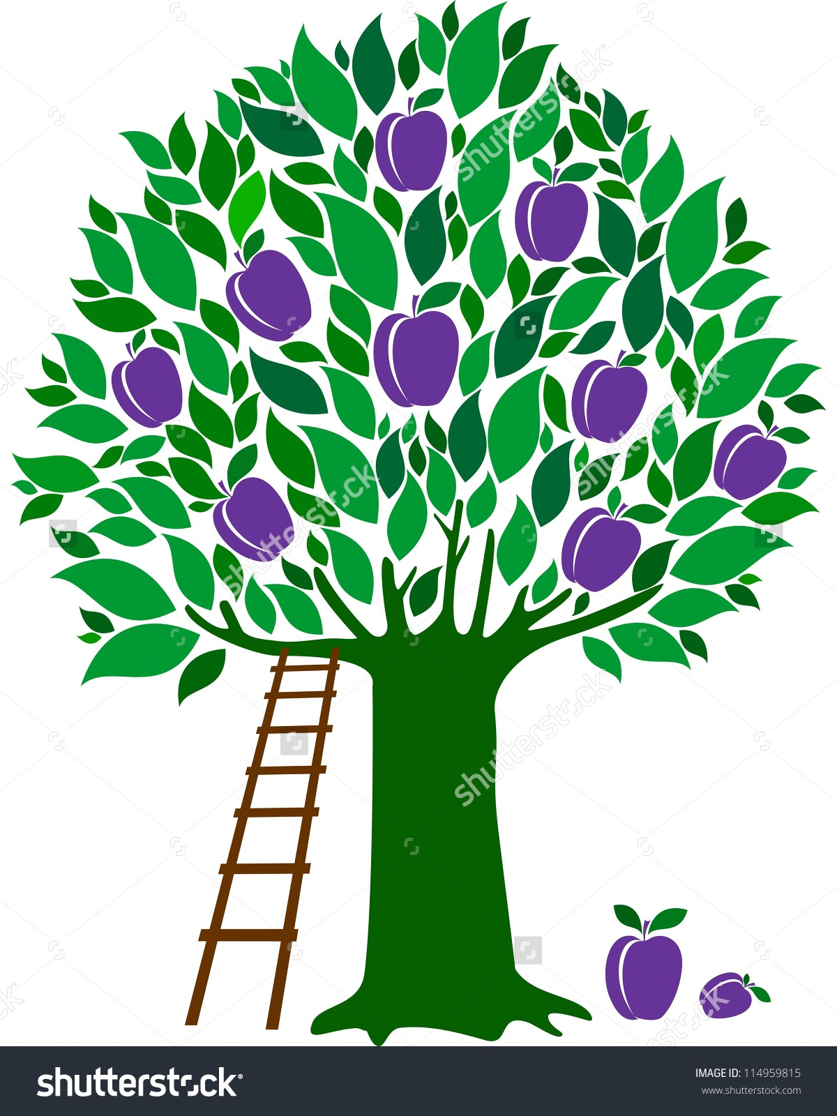 Free clipart images plum tree.