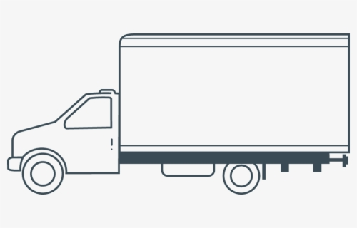 Free Box Truck Clip Art with No Background.